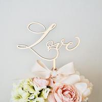 モダンカリグラフィー/結婚式/ケーキトッパー  -LOVE-  M size