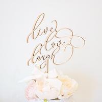 モダンカリグラフィー/結婚式/ケーキトッパー -LIVE LOVE LAUGH-