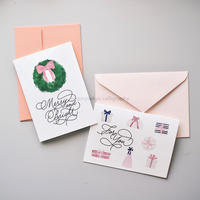 CARD 2組セット -MERRY & BRIGHT,  FOR YOU-