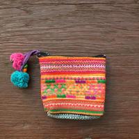 民族刺繍カラフルミニポーチ