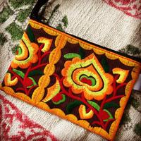 民族刺繍ミニポーチ