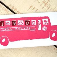 グリーティングカード「Love bus」