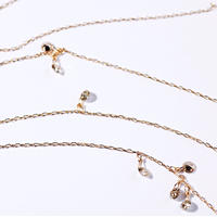 Laser Hole Diamond Necklace☆LONG