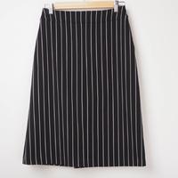 ストライプ台形スカート 【ページID:ブラック7427】