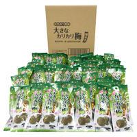 はちみつ風味大きなカリカリ梅種ぬき3個入×80袋(ケース売り)