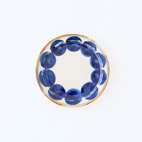 藍ブルー 18cmプレート 丸紋