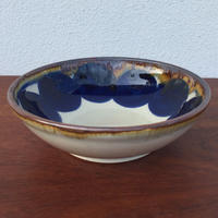 藍ブルー染付ボウル 丸紋