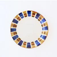 藍ブルー 24cmプレート 十草紋