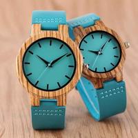 BOBO BIRD 木製腕時計 メンズ レディース サファイヤブルー
