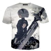 ニーア オートマタ フルグラフィック Tシャツ NieR:Automata インナーシャツ  Ver.2