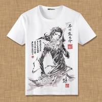 文豪ストレイドッグズ 芥川龍之介 Tシャツ 半袖 インナーシャツ カジュアル 男女兼用