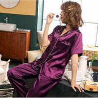 レディース シルク パジャマ 半袖 オシャレ 快眠 寝巻き 部屋着 Ver.4