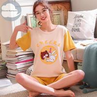 レディース 部屋着 かわいい イラスト カジュアル ホームウェア 可愛い 半袖 半ズボン Ver.10