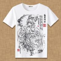 東方Project 藤原妹紅 Tシャツ 半袖 インナーシャツ カジュアル 男女兼用
