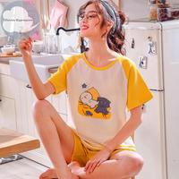 レディース 部屋着 かわいい イラスト カジュアル ホームウェア 可愛い 半袖 半ズボン Ver.21