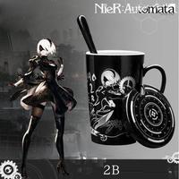 NieR:Automata 2B コーヒーマグ スプーン付き ニアオートマタ マグカップ