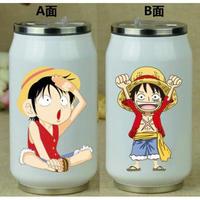 缶型アルミタンブラー ワンピース ステンレス缶型 ボトル 缶ジュース型 水筒 300mml 500mml ONE PIECE ミニルフィ