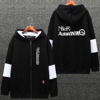 NieR:Automata ニーア オートマタ ジッパー ジャケット パーカー フード付き スウェット