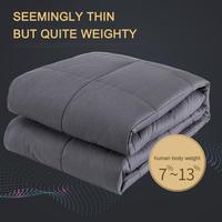 メンタリストDaiGoもおすすめの睡眠グッズ 過重ブランケット 120×180 約6.8㎏ 睡眠の質を高めるアイテム 加重毛布 深い睡眠