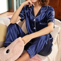 レディース シルク パジャマ 半袖 オシャレ 快眠 寝巻き 部屋着 Ver.2