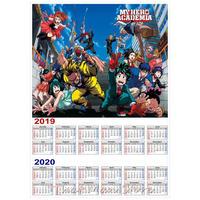<2020年版> 僕のヒーローアカデミア カレンダー A3サイズ キャラクター 2019年~2020年 42×30㎝ ポスター