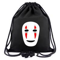 ジブリ カオナシ ビーム巾着 ナップザック 収納バッグ