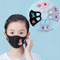 デザインマスク 可愛い イラスト入り 洗えるマスク 5枚入り