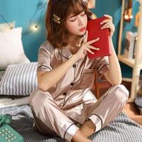 レディース シルク パジャマ 半袖 オシャレ 快眠 寝巻き 部屋着 Ver.5
