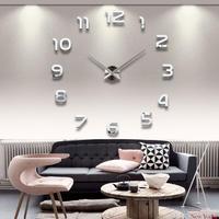 オシャレ 壁掛け時計 大きめサイズ シンプル 見やすい DIY 3Dウォールロック 壁アート 薄型 装飾時計 高級感