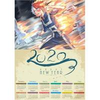 <2020年版> 僕のヒーローアカデミア ポスターカレンダー A3サイズ キャラクター 2020年 42×30㎝  Ver.8