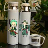 ワンピース ステンレスボトル カップ付き 魔法瓶 水筒 500mml ミニゾロ ONE PIECE