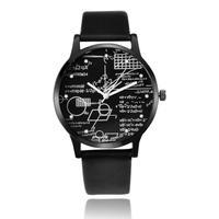 数式デザイン腕時計 レザーベルト ファッション時計 Ver.2