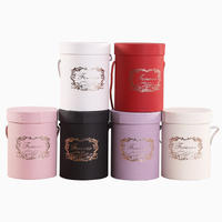 ギフトボックス バケツ型ボックス ギフト包装箱 ホワイト レッド ピンク ブラック パープル アイボリー