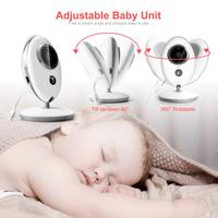 ワイヤレス ベビーモニター 見守りカメラ ママの声が届く 24時間 2.4GHz 子守唄内蔵 温度センサー 暗視機能 VB605
