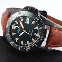 PARNIS(パーニス ) ダイバー腕時計 防水200メートル  ブラックダイヤル