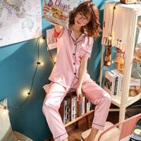 レディース シルク パジャマ 半袖 オシャレ 快眠 寝巻き 部屋着 Ver.7