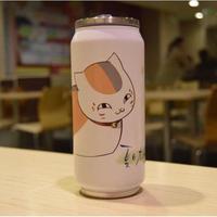 缶型アルミタンブラー 夏目友人帳 ニャンコ先生 ステンレス缶型 ボトル 缶ジュース型 水筒 300mml 500mml ニャンコ先生Ver.2