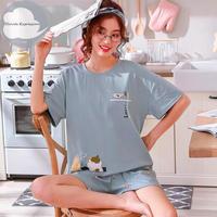 レディース 部屋着 かわいい イラスト カジュアル ホームウェア 可愛い 半袖 半ズボン Ver.22