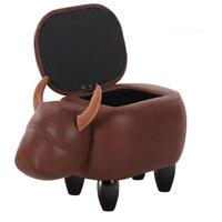 動物スツール カバ 収納できる オットマンベンチ 椅子 アニマル コンパクト スツール