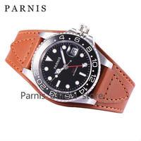 PARNIS(パーニス ) メンズ 機械式腕時計 防水 ブラウンレザー