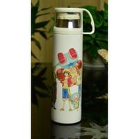 ワンピース ステンレスボトル カップ付き 魔法瓶 水筒 500mml 麦わらの一味 ONE PIECE