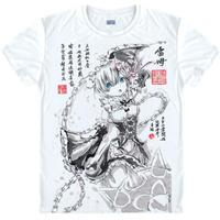 Re:ゼロから始める異世界生活 Tシャツ 半袖 インナーシャツ カジュアル 男女兼用