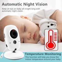 ワイヤレス ベビーモニター 見守りカメラ ママの声が届く 24時間 2.4GHz 子守唄内蔵 温度センサー 暗視機能  VB603