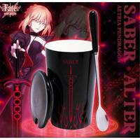 Fate/stay night セイバーオルタ コーヒーマグ スプーン付き マグカップ 黒セイバー