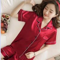 レディース シルク パジャマ 半袖 半ズボン オシャレ 快眠 寝巻き 部屋着