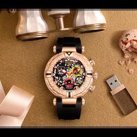 REEF TIGER [リーフ タイガー]腕時計 アナログ表示 クオーツ 防水 スケルトン メンズ