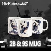 NieR:Automata / ニーアオートマタ 2B(ヨルハ二号B型) 9S(ヨルハ九号S型) マグカップ ホワイト