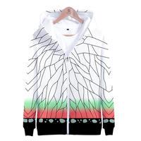 鬼滅の刃 パーカー 胡蝶しのぶ 羽織柄 フルグラフィック 長袖 スウェット フード付き