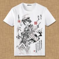 文豪ストレイドッグズ 江戸川乱歩 Tシャツ 半袖 インナーシャツ カジュアル 男女兼用