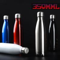 ステンレスボトル 350ミリリットル 魔法瓶 二重壁真空 ジャグ断熱 ウォーターボトル 旅行 水筒 水分補給